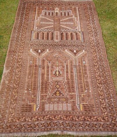 An Afghan temple rug