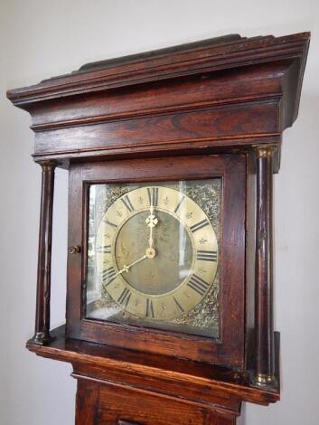 An 18thC elm longcase clock
