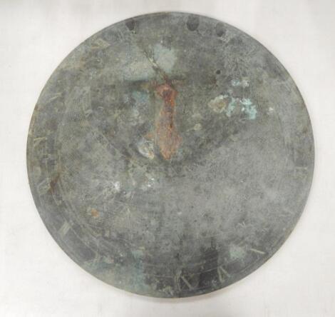 An 18thC bronze sundial