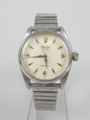 A Rolex Oyster Precision wristwatch