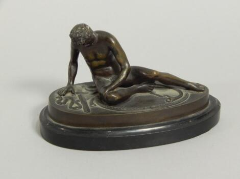 After the Antique. A Grand Tour type bronze of the Dying Gaul