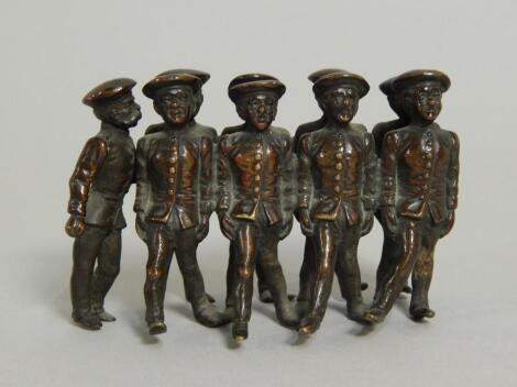 An early 20thC bronze group