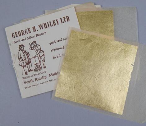 A booklet of gold leaf.