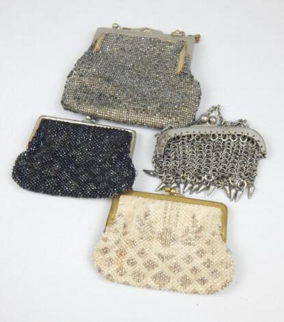 Four evening purses