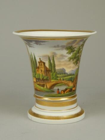 A 19thC French porcelain jardiniere and stand