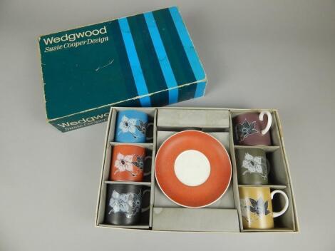 A Wedgwood Susie Cooper design harlequin coffee set