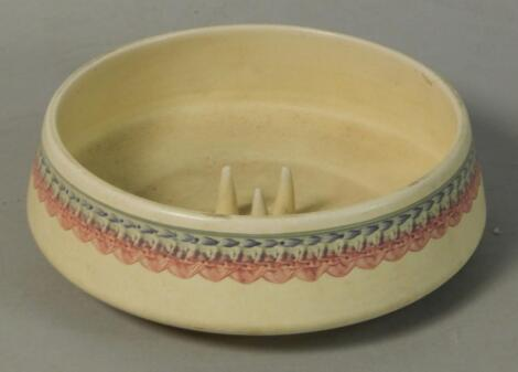 A Studio Pottery flower bowl