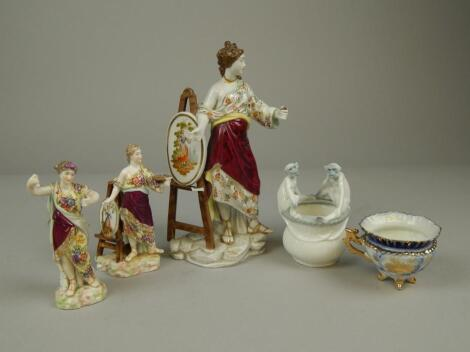 A collection of Continental porcelain