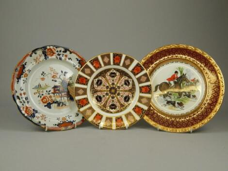 A collection of porcelain plates