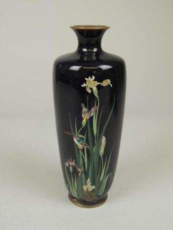 A late 19thC/early 20thC Japanese cloisonne vase