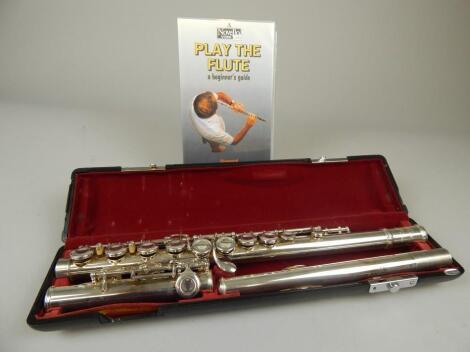 A Jupiter silver plated flute