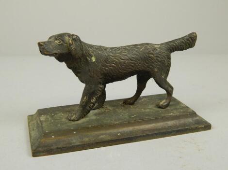 A 19thC bronze figure of a hound