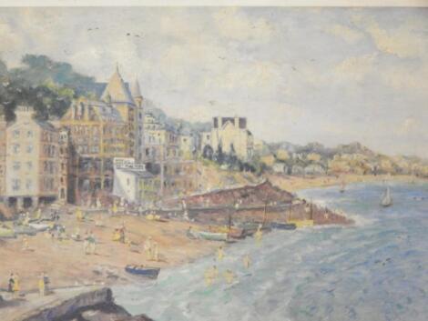 20thC Continental School. Seaside coastal scene