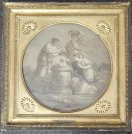 After Angelica Kauffman. Coloured print