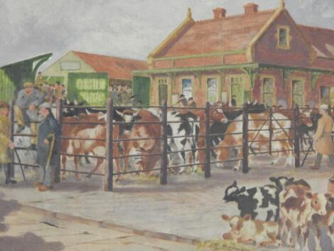 Walter Willbond. The Cattle Auction