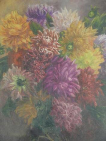 M Adcock (19th/20thC). Floral still life