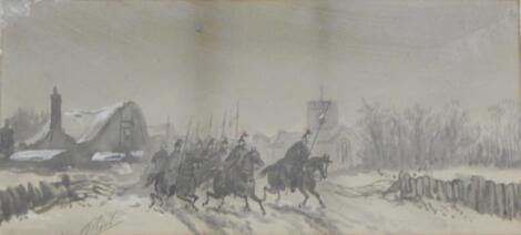 T Birk(?). Cavalry riding