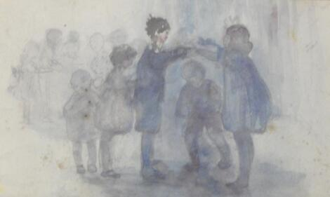 20thC British School. Children playing