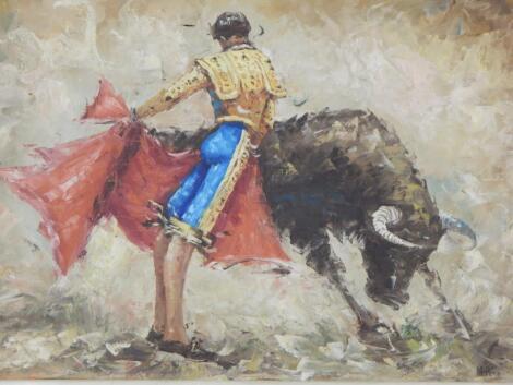 M Pera. Matador and bull