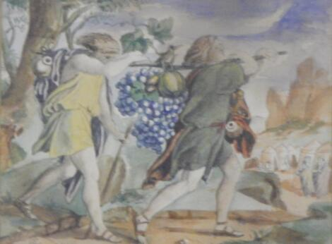 19thC British School. The Vine Carriers