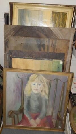 Various oils on canvas