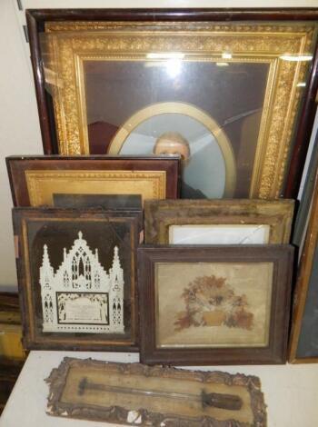 Framed Victorian items
