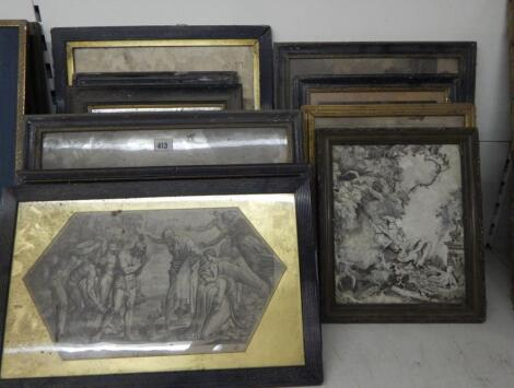 17thC and later book plates and engravings