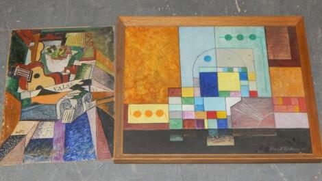 J. Cassell Hutchinson. Two abstract pictures.