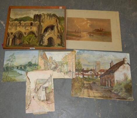 J. Cassell Hutchinson. Various watercolours and others.