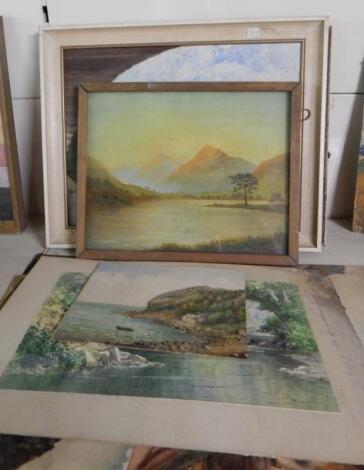 Two landscape oils