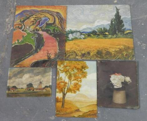 Various oils on board