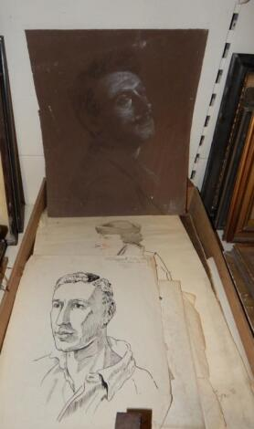 An interesting group of portrait sketches.