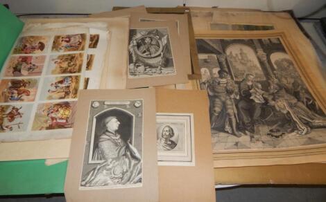 A folder of various loose prints