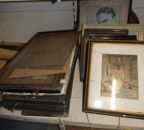 A large quantity of various pictures and prints. (2 stacks)