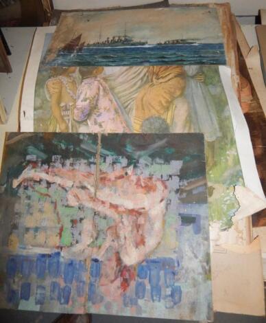 Unframed watercolours