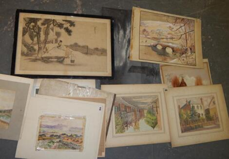 J. Cassell Hutchinson. Various watercolours