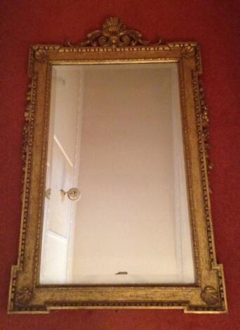 A pair of 19thC giltwood and gesso wall mirrors