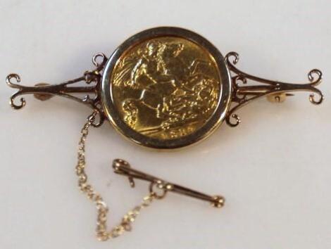 An Edward VII gold half sovereign