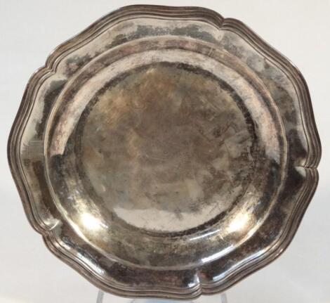 An early 19thC Old Sheffield plate dish