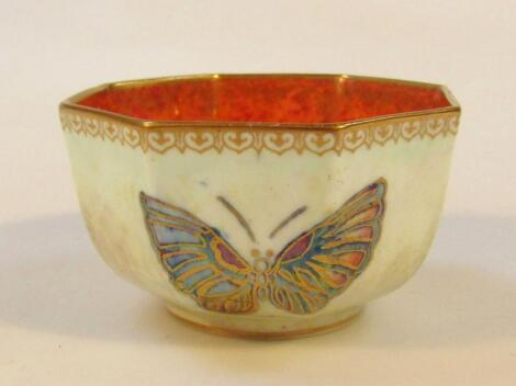 A mid-20thC Wedgwood butterfly lustre bowl