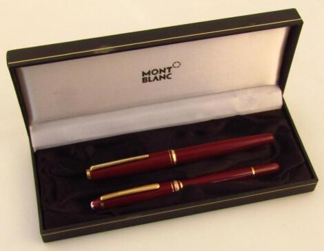 A 20thC Mont Blanc Meisterstuck cased pen set