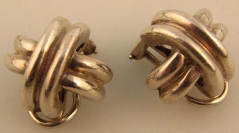 A pair of Tiffany & Co 'X' earrings