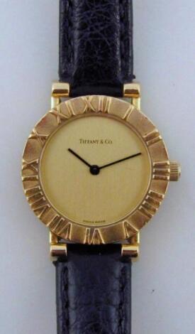 A Tiffany & Co 18ct gold ladies wristwatch