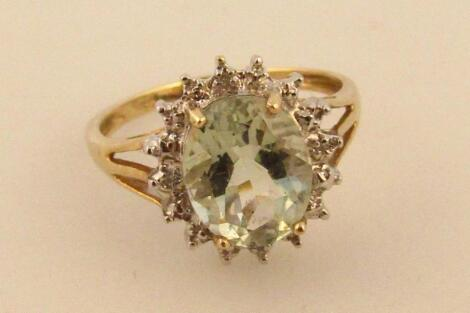A ladies claw set dress ring
