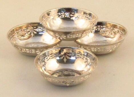 A set of four George VI silver Armada dishes