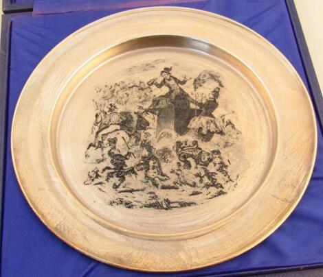 An Elizabeth II silver Mr Pickwick plate