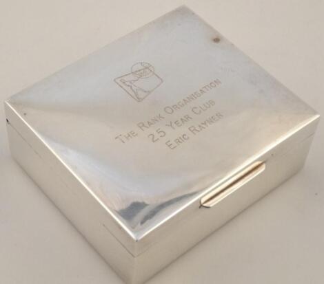 An Elizabeth II silver cigarette case