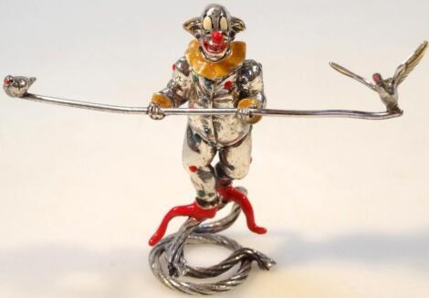 A figure of a clown