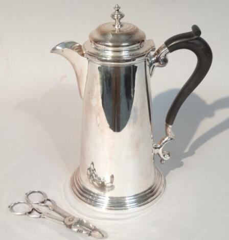 A 20thC silver plated coffee pot