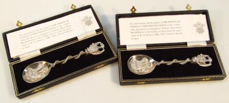 An Elizabeth II silver Prince Of Wales Investiture Commemorative spoon